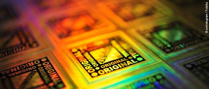 Unsichtbare Hologramme schützen Produkte vor illegaler Nachahmung