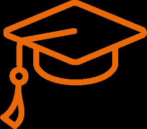 Icon Bildung Orange