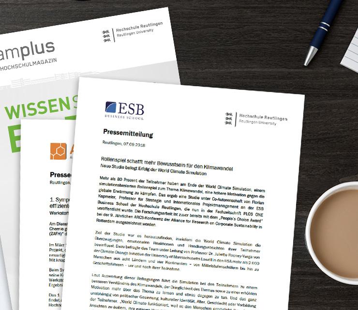 WissenschaftAttraktiv Vorgestellt Für Die Hochschule Reutlingen