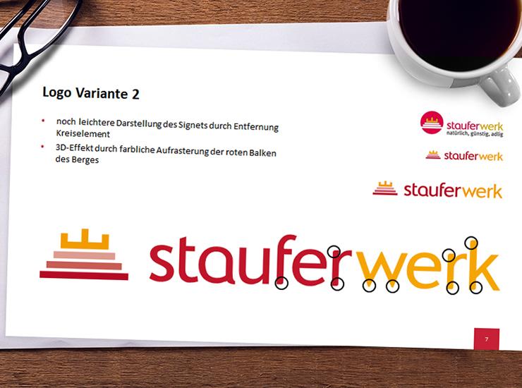 Stauferwerk - CD-Reluanch, Fahrzeugbeklebung, Gebäudebeschriftung